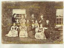 OLD ALBUMEN PHOTO VICTORIAN FASHION YOUNG WOMEN HORBURY WAKEFIELD ANTIQUE C.1880