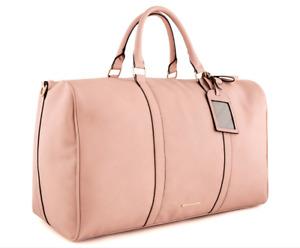 TONY BIANCO Harper Weekend Away Bag Brown Pink Large PU Leather Zip organisation