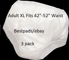 3PK Reliamed Adult Waterproof Soft Vinyl Plastic Pant Diaper Incontinent Xlarge