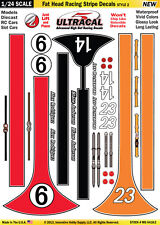 Mg6418-2 1/24 High Def UltraCal Decals Fat Head Racing Stripe Decals Style 2