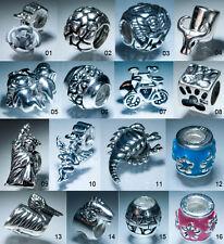 In VENDITA 10 PZ Silver charms perline fidanzata Europeo Bracciale con Charm Regalo di Natale