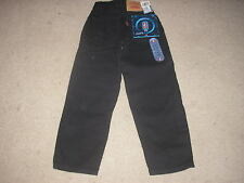 Brand New With Tag Girls Black Levi's Red Tab Jeans 550 Relaxed Fit Size 7 Slim