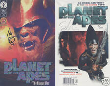 Planet of the Apes Variants Set Human War AUTOGRAPHED!