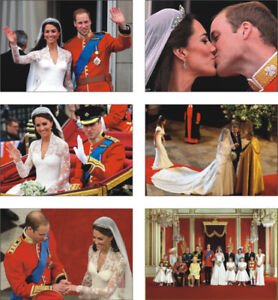 Prince William and Kate Royal Wedding KISS POSTCARD Set
