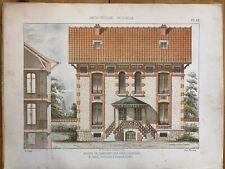 Puteaux / Maison de Campagne  / Duval Architecte Planche Lithographie