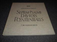 Orlandus Lassus - Septem Psalmi Davidis Pœnitentiales (2LP) Archiv Mono NM/EX