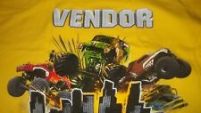2XL Monster Truck Jam VENDOR Venue CREW T-Shirt XXL Grave Digger 2011 (2 SIDED)