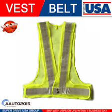 Xxl High Yellow Visibility Mesh Night Running Security Reflective Safety Vest