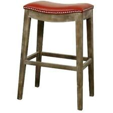 New Pacific Direct 198631B-67 Elmo Bonded Leather Bar Stool Mystique Gray Fra...
