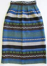 VTG Mid Century SCANDINAVIAN Hand Woven Wool Textile Skirt Sz S