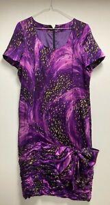 Silk Cocktail Dress Purple Stunning size 10 - Ideal for Wedding Celebrations