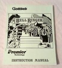 Gottlieb Premier Bell Ringer Redemption Pinball Machine Manual & Schematics Nos!