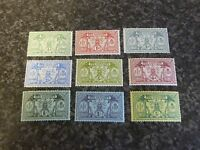 NEW HEBRIDES POSTAGE STAMPS SG18-28 1911 MOSTLY UN-MOUNTED MINT