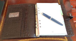 Mulberry A5 Organiser/Planner Teak Croc Leather, Immaculate Condition