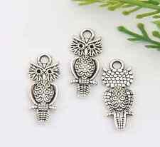 15pcs zinc alloy owls pendants 21*9mm 1A1492