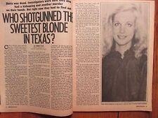 "Mar-1984  ""Official Detective"" Mag(LOYAL LUNDSTROM/KIM KIRCHHHOFF/RON ALEXANDER)"