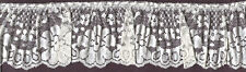 """4"""" IVORY PLEATED LACE FABRIC TRIM WITH BEADING 12 YARDS"""