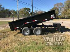 New 2021 6x12 6 X 12 7k Gvwr Hydraulic Dump Trailer Equipment Hauler 24 Sides
