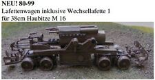 MGM 080-099 1/72 Resin WWI+2 German Loaded Carriage Truck for 38cm Howitzer M16