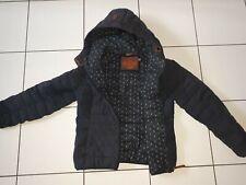Naketano Hooded Zip up Winter  Paded Jacket XL black Anchor Print