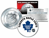 TORONTO MAPLE LEAFS Royal Canadian Mint Medallion NHL Colorized Coin *LICENSED*