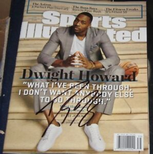 2 Dwight Howard Rockets Lakers SIGNED AUTOGRAPHED Sports Illustrated SI COA NOL