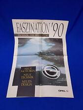593) Prospekt Reklame Werbung Händler Opel 1990 Modell Palette Omega Corsa