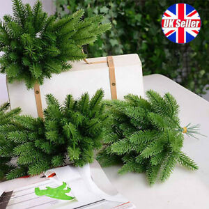 10X Artificial Plants Pine Branches Christmas Garland DIY Xmas Party Decorations