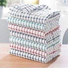 Pack of 7 Large Cotton Terry Tea Towels Kitchen Cloth Drying Plates Cleaning
