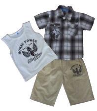 Conjuntos  niño , pantalones cortos y camisa  de ZSF,  gris  ,talla 6