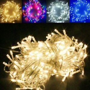 20-500 LED String Fairy Lights Battery/Solar/UK Plug In Xmas Tree Party Wedding