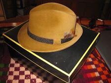 Dobbs Fifth Avenue 'Hunter' Fur Felt Camel  Hunter Mt fedora in box 6 7/8