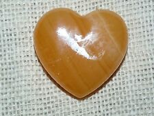 Premium 50 mm Golden Calcite Mineral Stone Heart