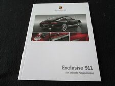 2009 2010 Porsche 911 Carrera 997 Turbo Exclusive Catalog Special Order Brochure