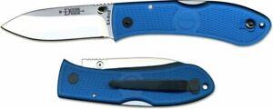Ka-Bar Dozier Folding Hunter Knife, Thumb Stud, Blue #4062BL