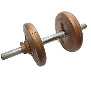 VINTAGE Ted Williams Sears 10 lb Dumbbell Set 2 X 5 LB Plate Weight TOTAL 10 LB