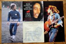 "Ex/Ex Bob Marley & The Wailers One Love Get Ready Poster Bag Sleeve 7"" Vinyl 45"