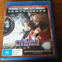 Captain America Civil War Marvel Blu-Ray LIKE NEW! FREE POST
