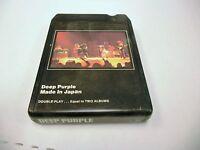 Deep Purple Made In Japan 8 Track Tape 1973 Warner Bros Records VG+