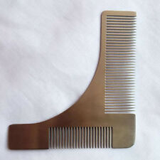 Beard Shaping Shaving Tool Metal Beard Comb Stainless Steel Hair Comb 1 pcs