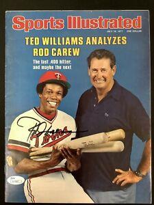 Rod Carew Signed Sports Illustrated 7/18/77 No Label Baseball Twins Auto HOF JSA