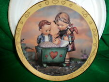 "Hummel Plate ""Sister"" Timeless Virtues Collection ""Blessed Event"" Mib"