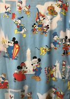 Vintage Pacific Mickey & Friends Twin Sheet Minnie Donald Pluto Fabric Craft