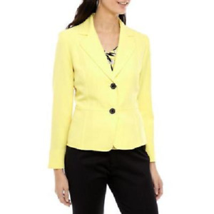 NEW KASPER YELLOW CAREER JACKET BLAZER  SIZE 16 W  WOMEN $119