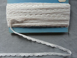 Antique French Bobbin Lace Ribbon Linen Handmade Le Puy Vintage By the yard