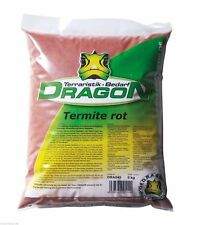 Terrariensand Termite - Grabfähiger lehmhaltiger Bodengrund - Farbe: Rot -  5Kg