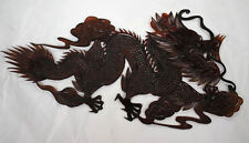 Vintage Style Chinese Cowhide Shadow Play Puppet-Dragon F2023