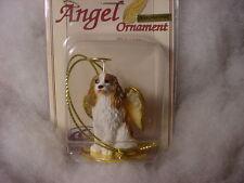 CAVALIER KING CHARLES dog ANGEL Ornament HAND PAINTED resin FIGURINE Christmas
