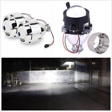 Pair LHD 2.5'' Car HID Bi-xenon Projector Clear Lens Kit Headlight Shroud H1 H4