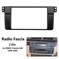 For BMW 3-Series E46 98-05 Car Radio Fascia Panel Plate Surround Frame 2 Din AU